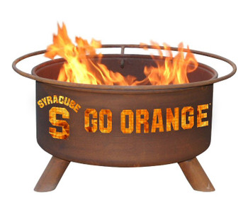 Syracuse University Orange Metal Fire Pit