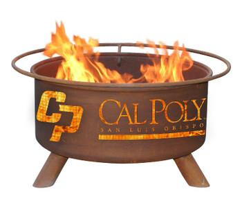 Cal Poly San Luis Obispo Mustangs Metal Fire Pit