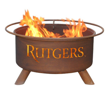 Rutgers University Scarlet Knights Metal Fire Pit