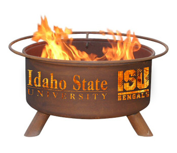 Idaho State University Bengals Metal Fire Pit