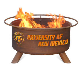 University of New Mexico Lobos Metal Fire Pit