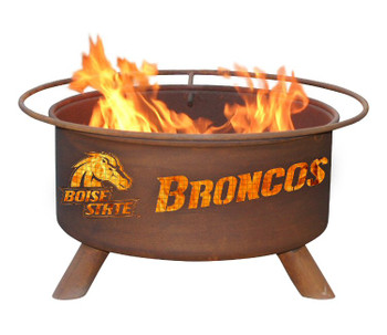 Boise State University Broncos Metal Fire Pit