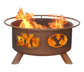 BYU Brigham Young University Cougars Metal Fire Pit