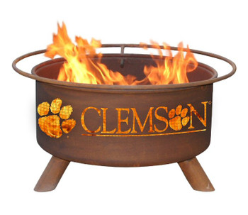 Clemson University Tigers Metal Fire Pit
