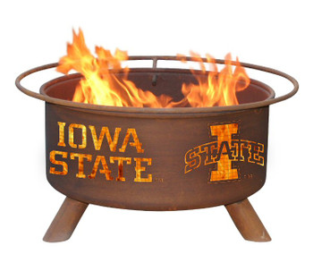 Iowa State University Cyclones Metal Fire Pit