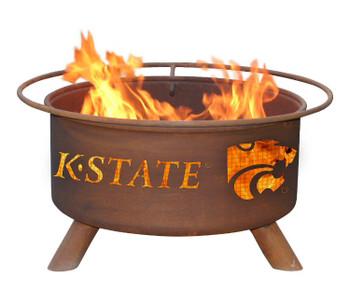 Kansas State University Wildcats Metal Fire Pit