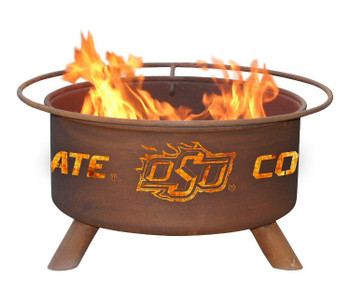 Oklahoma State University Cowboys Metal Fire Pit