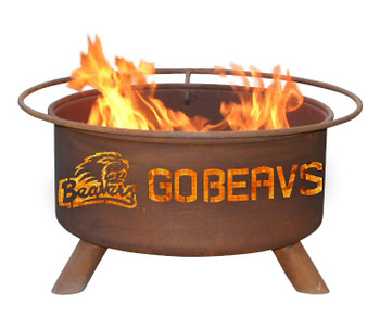 Oregon State University Beavers Metal Fire Pit