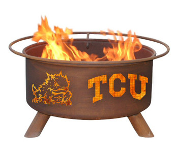 TCU Texas Christian University Horned Frogs Metal Fire Pit
