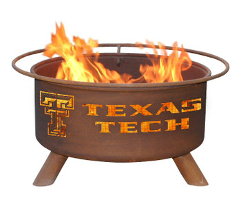 Texas Tech University Red Raiders Metal Fire Pit