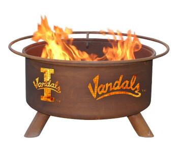 University of Idaho Vandals Metal Fire Pit