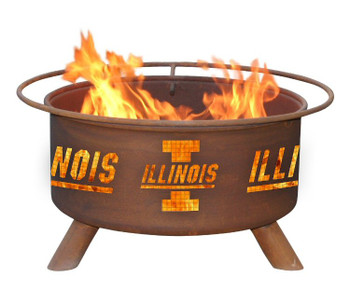 University of Illinois The Fighting Illini Metal Fire Pit