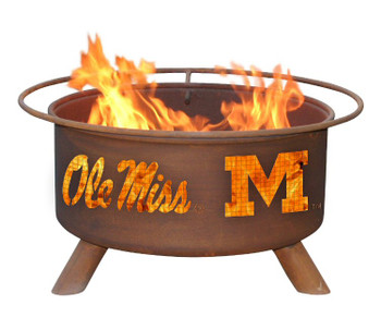Ole Miss University of Mississippi Rebels Metal Fire Pit