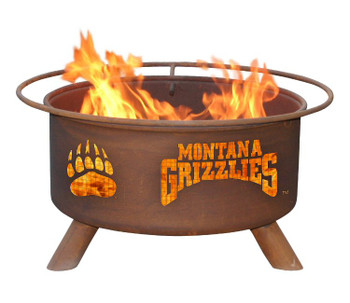 University of Montana Grizzlies Metal Fire Pit