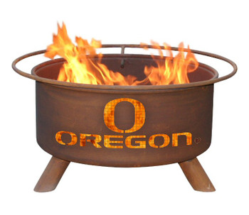 University of Oregon Ducks Metal Fire Pit