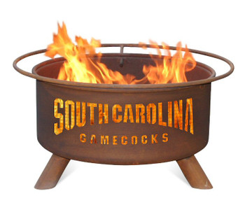 University of South Carolina Gamecocks Metal Fire Pit