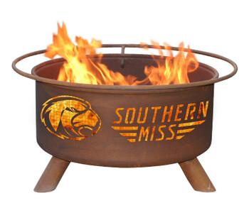 University of Southern Mississippi Golden Eagles Metal Fire Pit