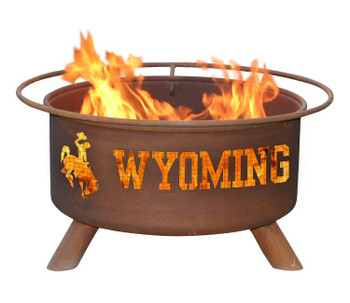 University of Wyoming Cowboys Metal Fire Pit