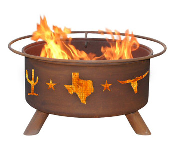 Texas Lone Star Western Metal Fire Pit
