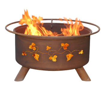 Grapevines Metal Fire Pit