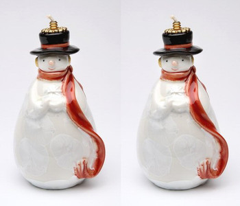 Snowman Oil Lamp, Set of 2