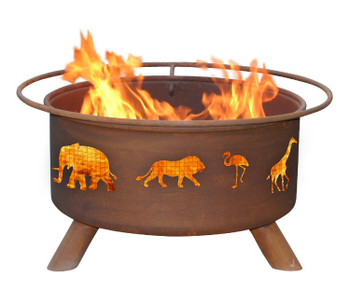 Safari Animals Metal Fire Pit