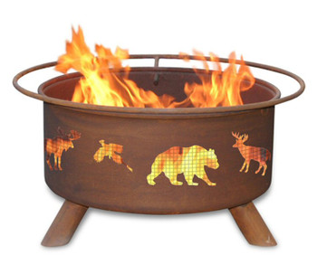 Wildlife Animals Great Outdoors Metal Fire Pit