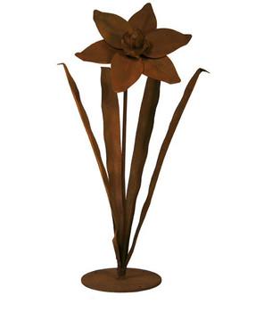 Daffodil Flower Metal Outdoor Garden Sculpture
