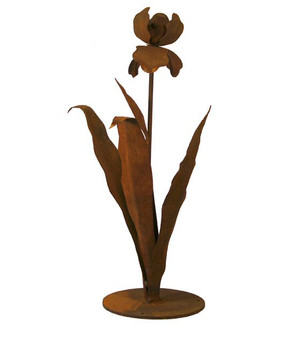 Iris Flower Metal Outdoor Garden Sculpture
