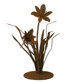 Lily Flower Metal Outdoor Garden Sculpture