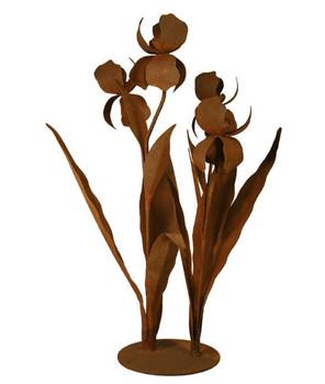 Large Iris Flower Metal Outdoor Garden Sculpture