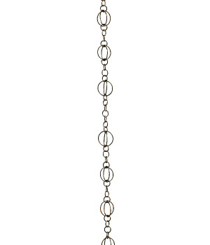 8.5' Metal Antique Copper Life Circles Rain Chain