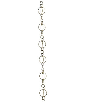 8.5' Metal Brushed Stainless Life Circles Rain Chain