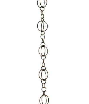 3' Metal Antique Copper Life Circles Rain Chain