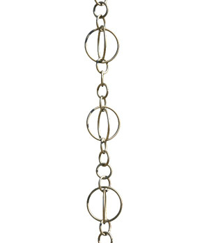 3' Metal Brushed Stainless Life Circles Rain Chain