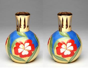 Flower Oil Lamp, Set of 2
