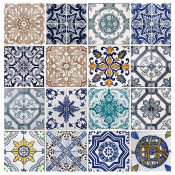 Lisbon Tiles Absorbent Beverage Coasters, Set of 8