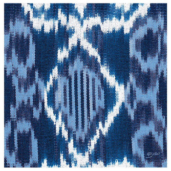 Indigo Ikat Absorbent Beverage Coasters, Set of 12