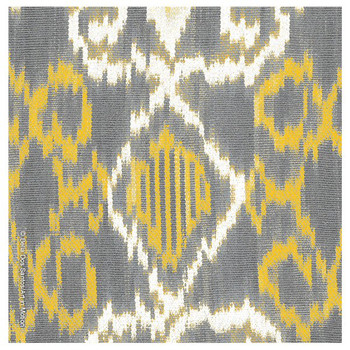 Gray and Yellow Ikat Absorbent Beverage Coasters, Set of 12