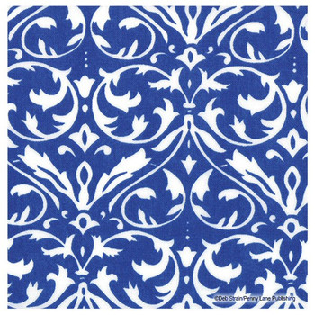 Blue Damask Absorbent Beverage Coasters by Deb Strain, Set of 12