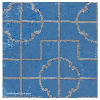 Blue Moroccan Tile Pattern I Coasters by Shultz McGannon, Set of 12