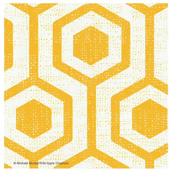 Bright Lattice Tile I Absorbent Coasters by Michael Mullan, Set of 12