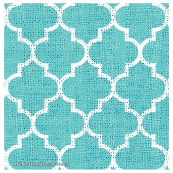 Bright Lattice Tile III Coasters by Michael Mullan, Set of 12