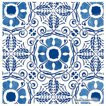 Blue Marrakesh Absorbent Beverage Coasters by Morgan Yamada, Set of 12
