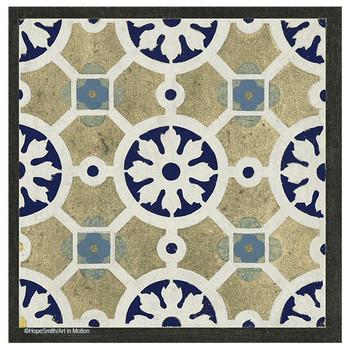 World Indigo Tiles 4 Beverage Coasters by Hope Smith, Set of 12