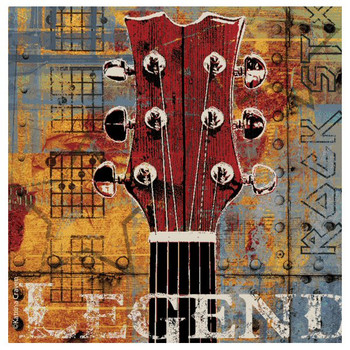 Legend Guitar Absorbent Beverage Coasters by Katrina Craven, Set of 8