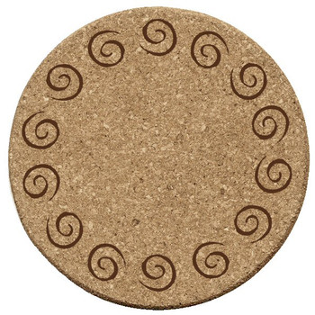 Swirls Cork Beverage Coasters, Set of 12
