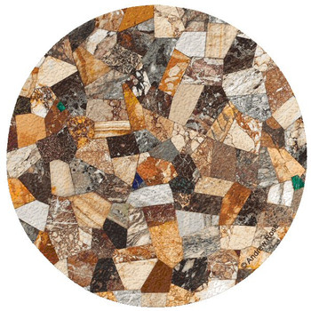 Tabletop IV Cork Beverage Coasters by Andrew Rose, Set of 12