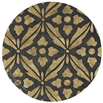 Museum Ebony Cork Beverage Coasters by Regina Andrew, Set of 12