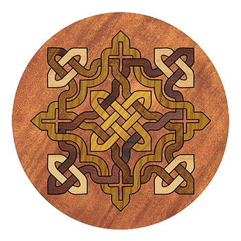 Celtic Knot Sandstone Round Beverage Coasters, Set of 8